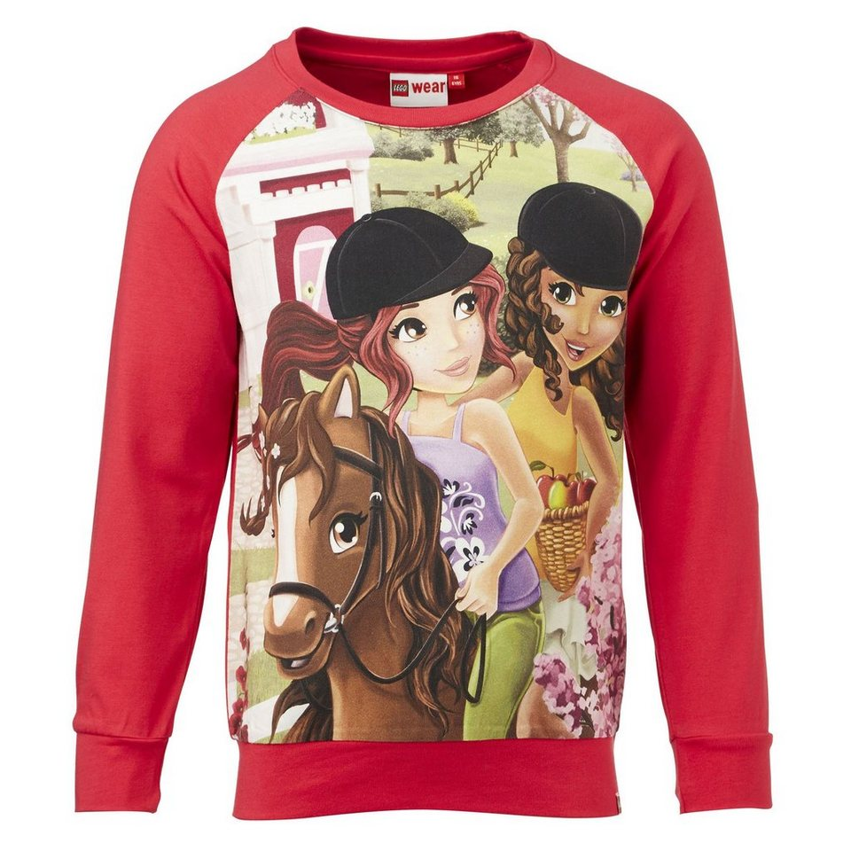 "LEGO Wear Friends Langarm-T-Shirt Tamara langarm ""Ausritt"" Shirt in rot"