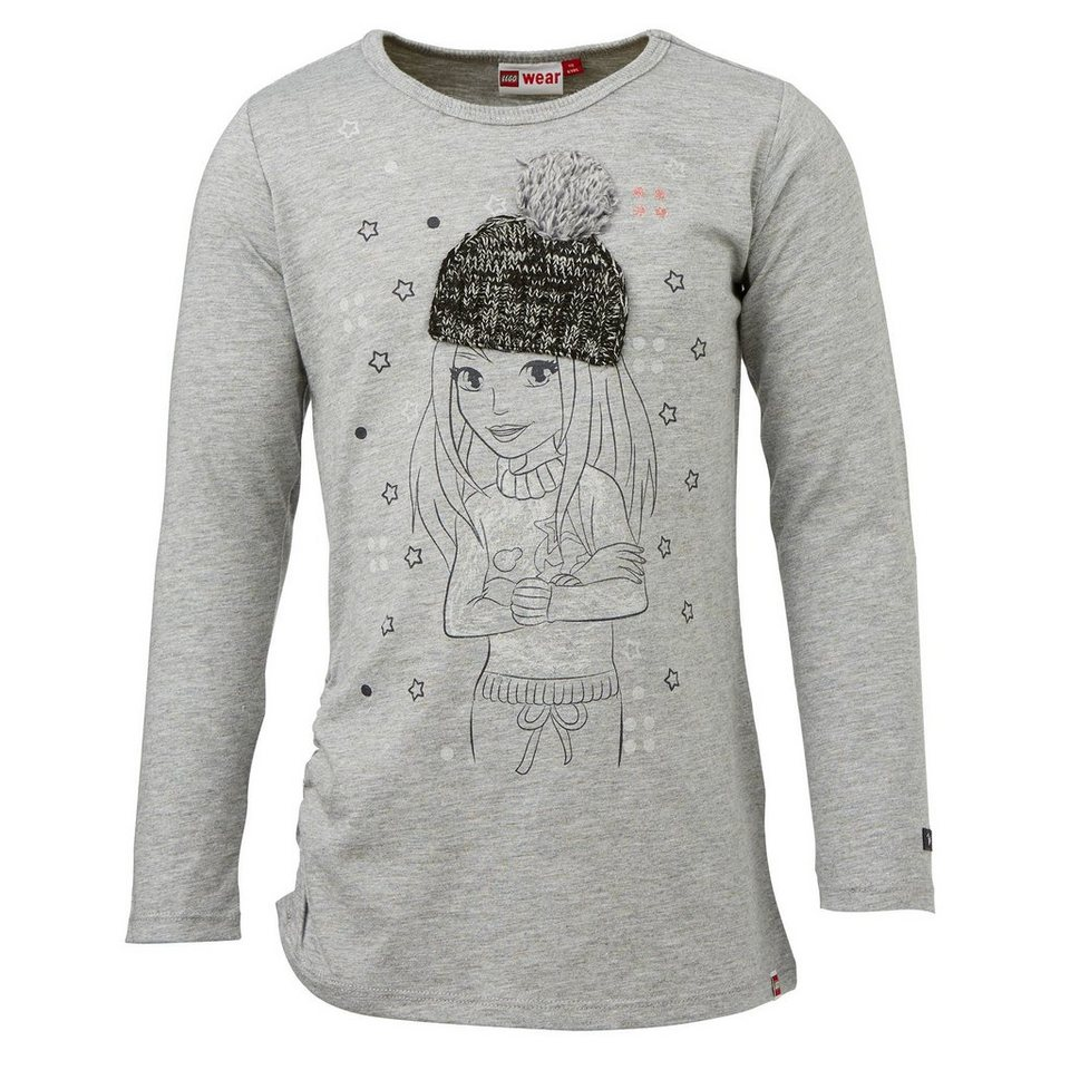 "LEGO Wear Friends Langarm-T-Shirt Tessa langarm ""Winter Glitter"" Shirt in grau"