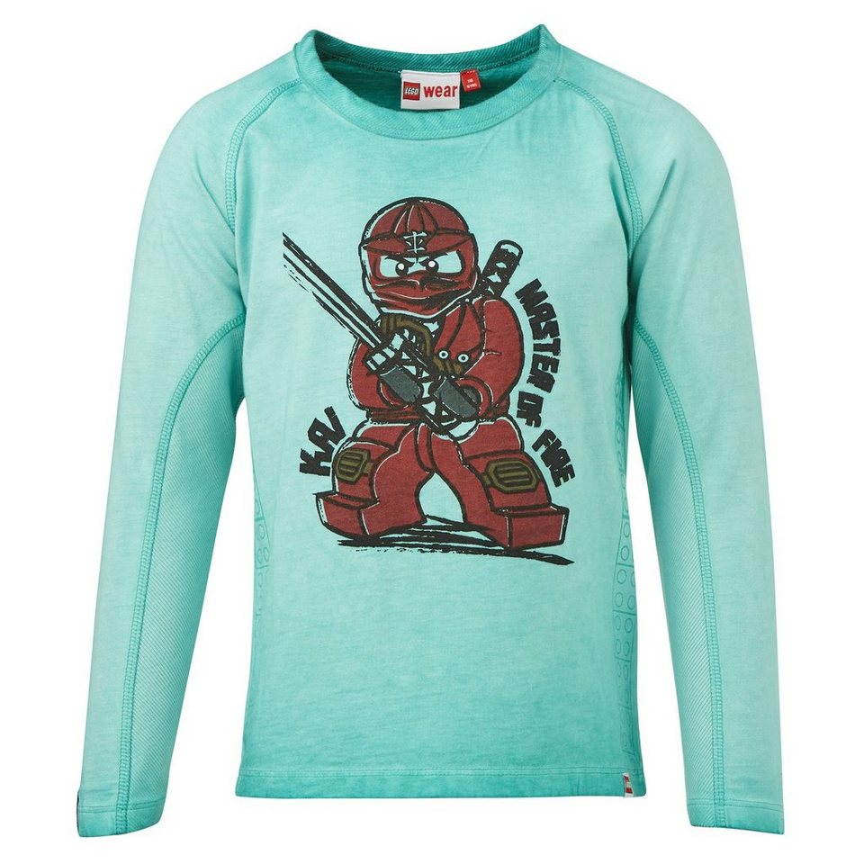 "LEGO Wear Ninjago Langarm-T-Shirt Tony ""Kai Master of Fire"" langarm in grün"