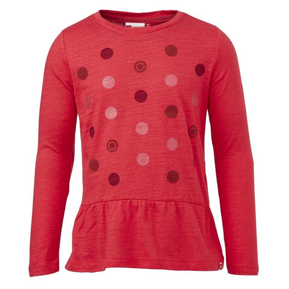 "LEGO Wear Brick?N Bricks Langarm-T-Shirt Tamara langarm ""Points"" Shirt in rot"