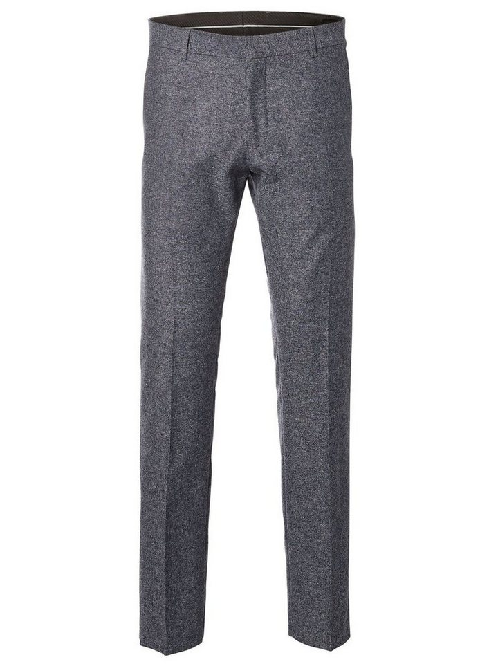 Selected Slim-Fit- Anzughose in Grey Melange