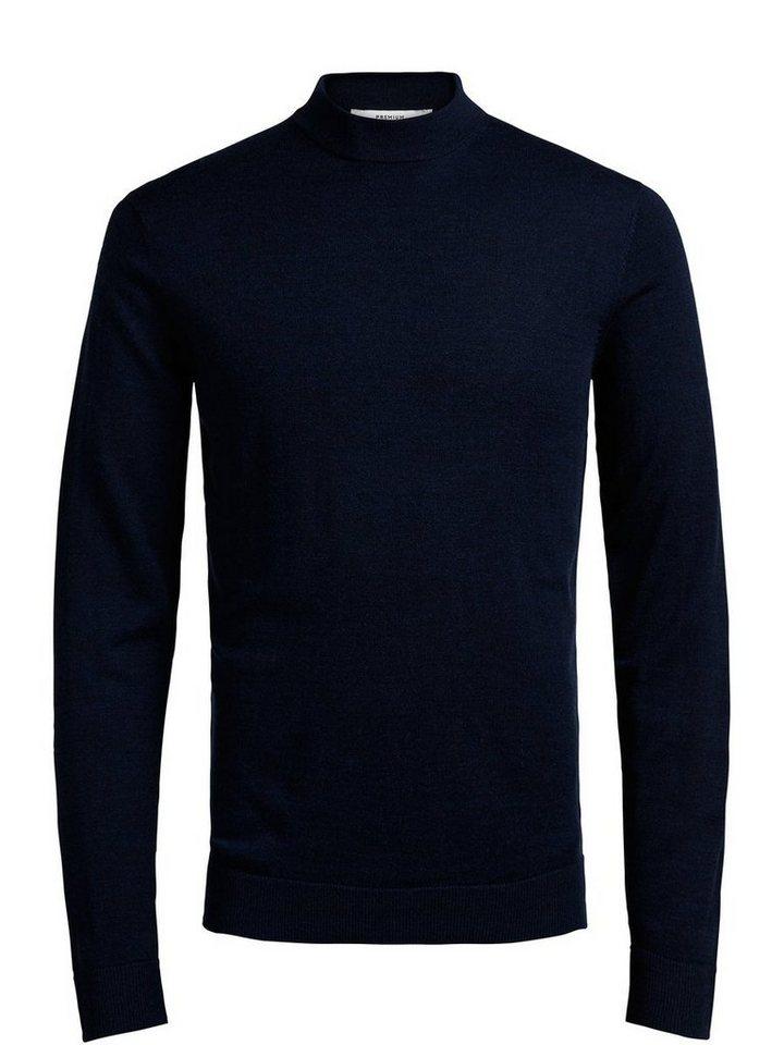 Jack & Jones Merinowoll- Pullover in Navy Blazer