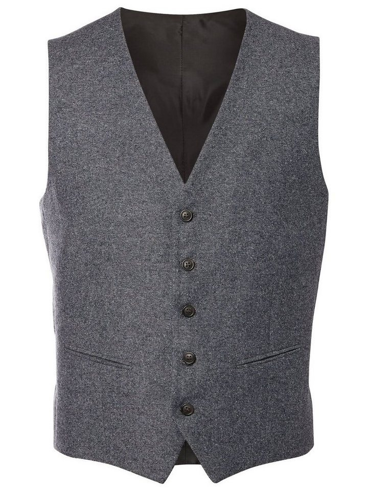 Selected Slim-Fit- Weste in Grey Melange