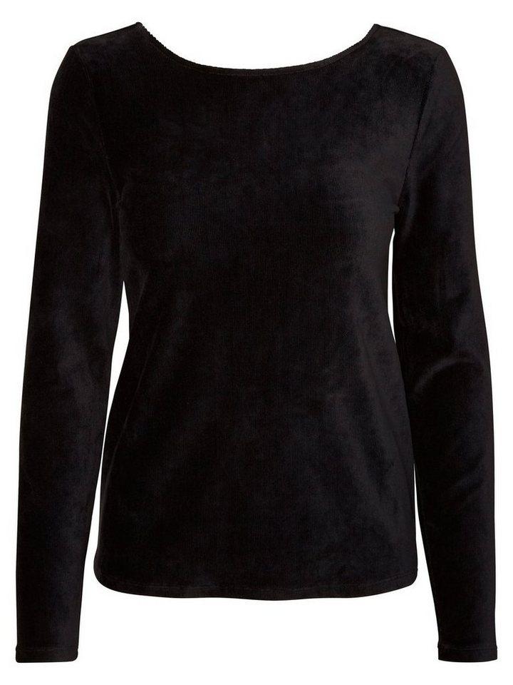 Vero Moda Langärmelige Bluse in Black