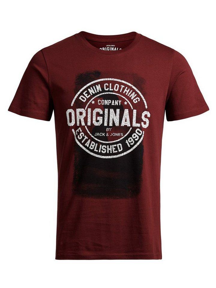 Jack & Jones Grafik- T-Shirt in Syrah