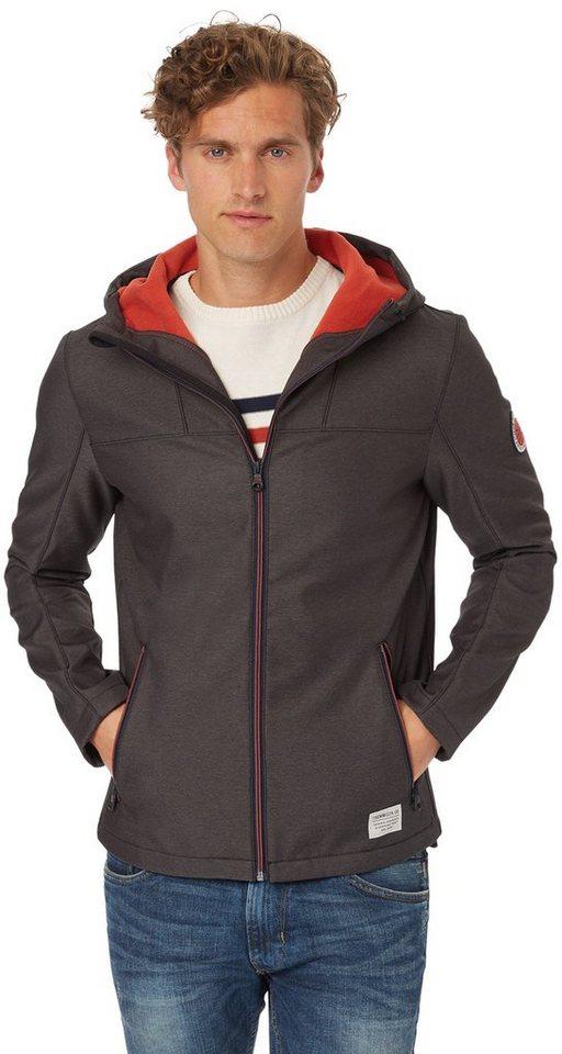 TOM TAILOR DENIM Jacke »sportive Soft Shell Jacke« in somber grey