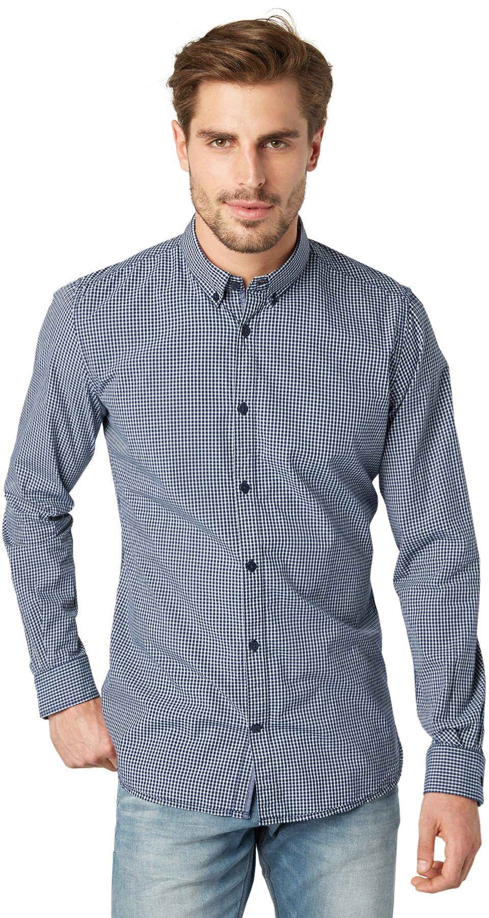 TOM TAILOR Hemd »kariertes Button-Down-Hemd«