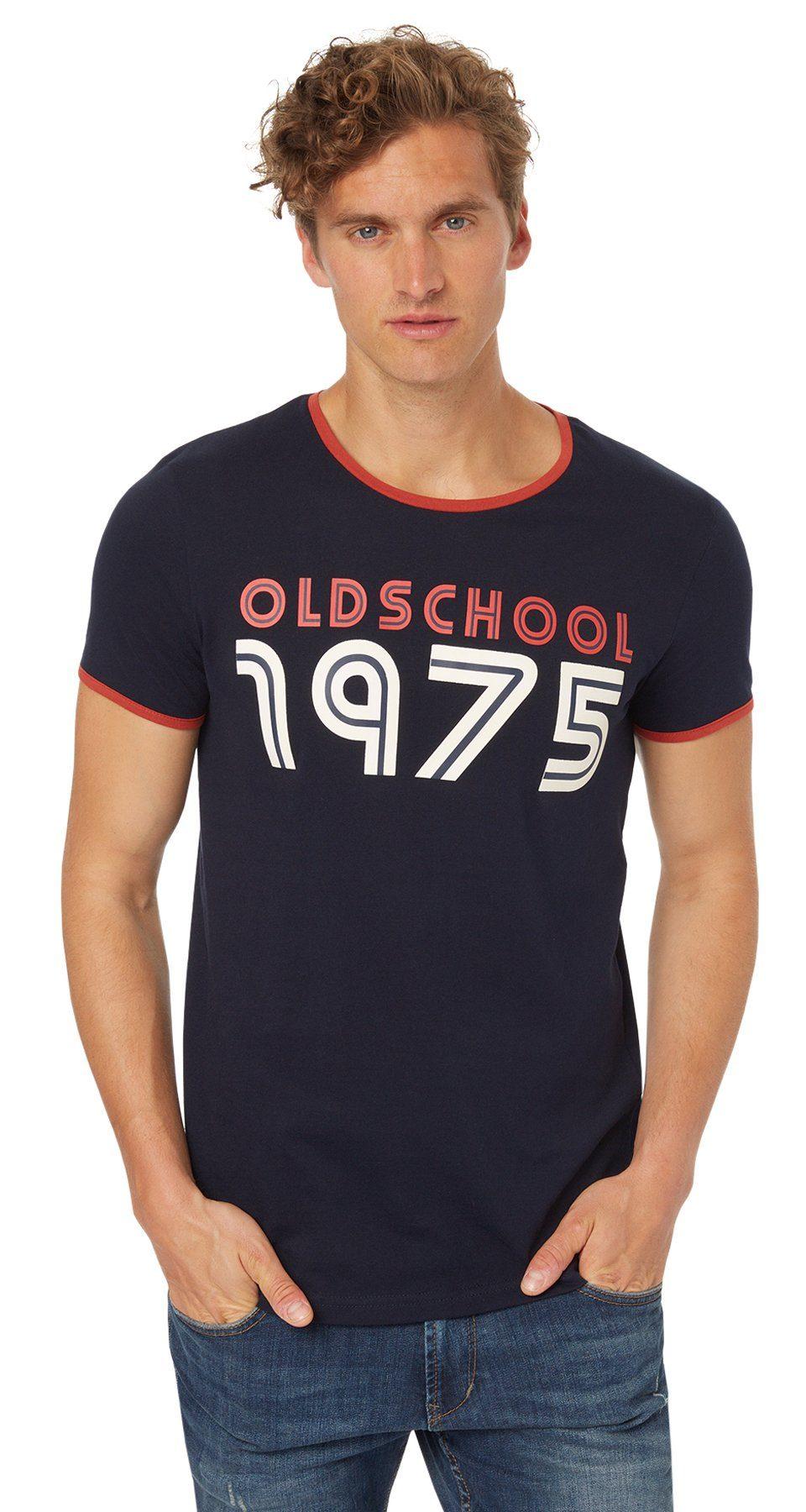 TOM TAILOR DENIM T-Shirt »T-Shirt im retro Highschool-Look«
