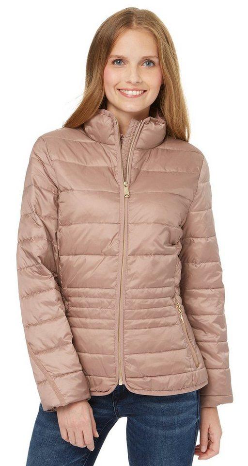TOM TAILOR Jacke »feminine light weight jacket« in light violet taupe