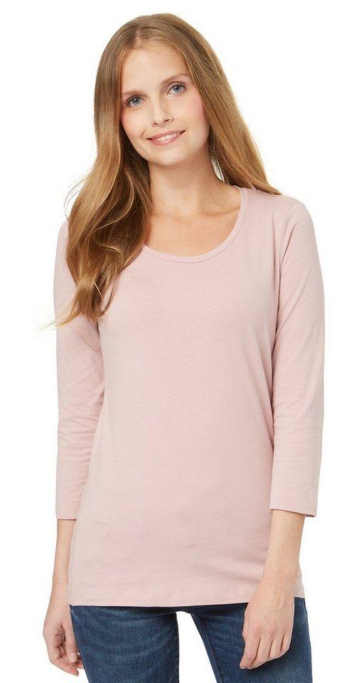 TOM TAILOR T-Shirt »schlichtes Baumwoll-Shirt« in Taste of berry