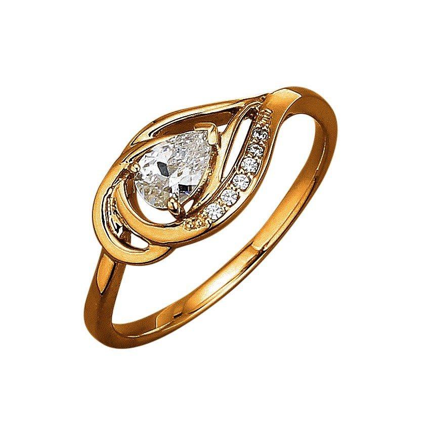 Jacques Lemans Ring 375/- Gelbgold mit Zirkonia weiß in gelb
