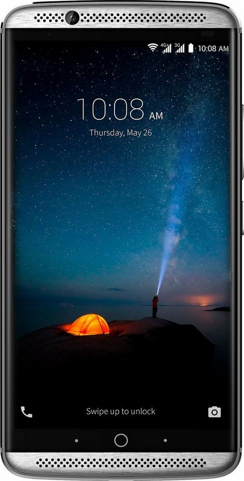 ZTE Axon 7 Smartphone, 13,97 cm (5,5 Zoll) Display, LTE (4G), Android 6.0 (Marshmallow) in grau