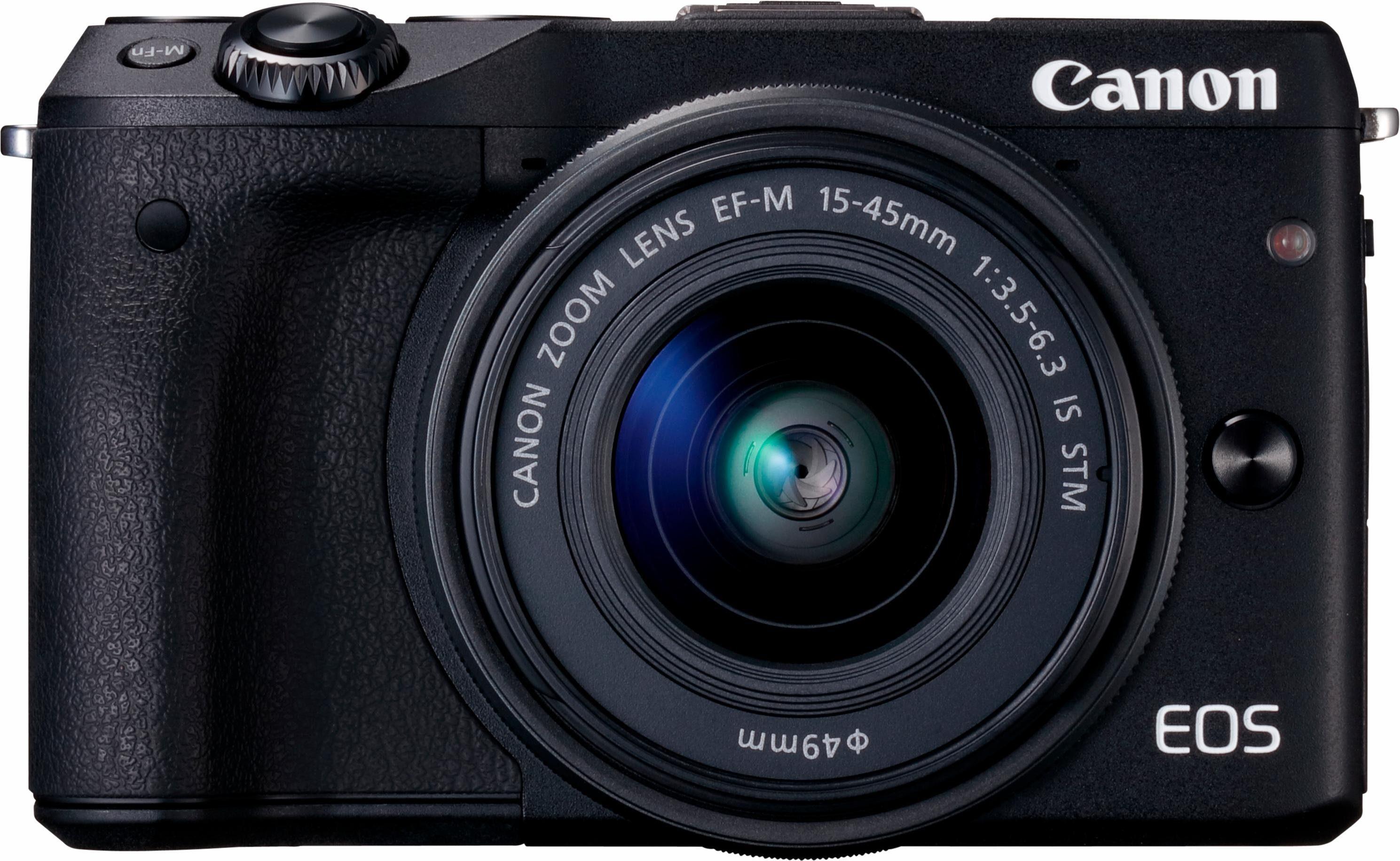 Canon EOS M3 Kit System Kamera, EF-M 15-45mm f/3,5-6,3 IS STM Zoom, 24,2 Megapixel