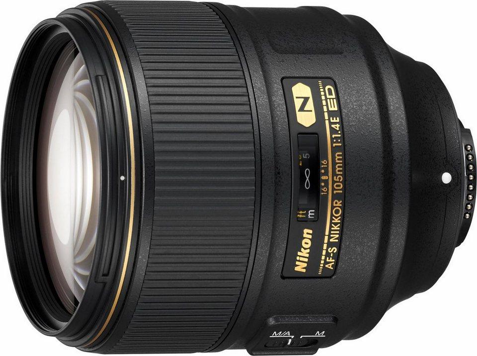 Nikon AF-S Nikkor 105mm 1:1.4E ED Tele Objektiv in schwarz