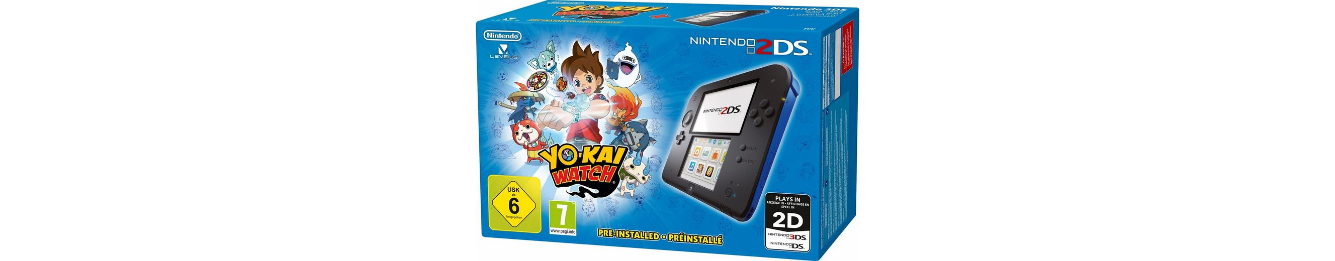 Nintendo 2 DS + Yo-Kai Watch vorinstalliert mit 3 Jahren Garantie*