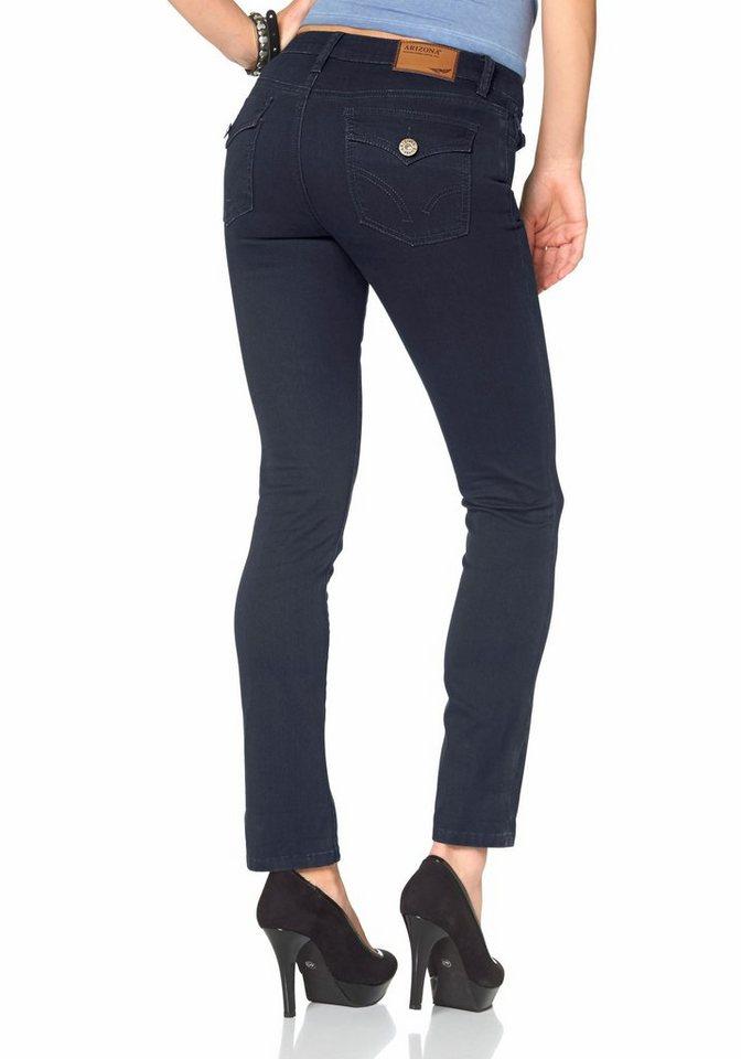 Arizona Skinny-fit-Jeans »mit Pattentaschen« Mid Waist in rinsed