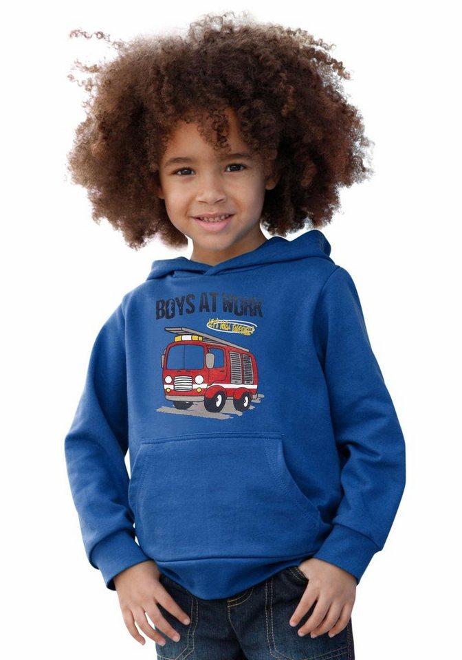 """CFL Kapuzensweatshirt """"FEUERWEHR"""" in royalblau"""
