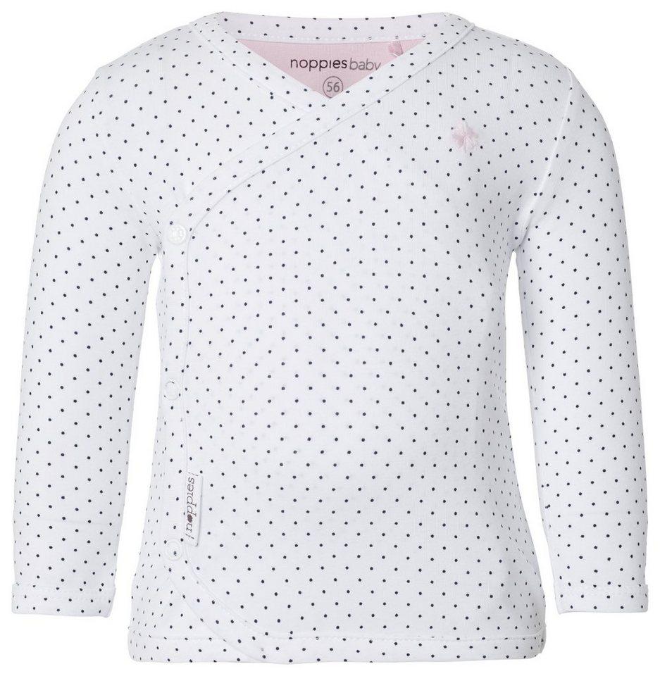 NOPPIES Langarmshirt »Kim« in White