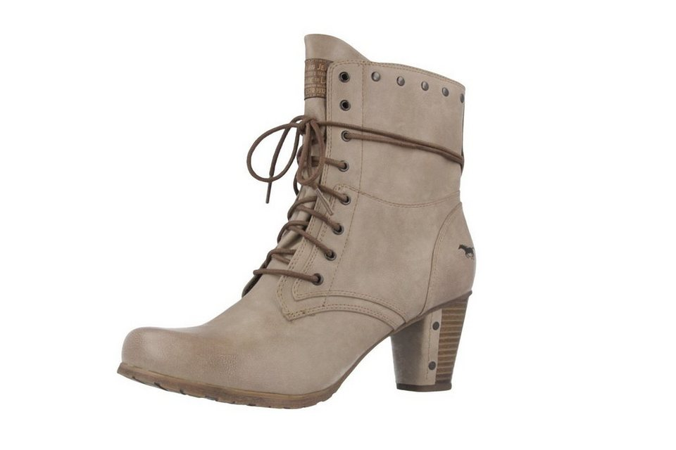 Mustang Stiefeletten in Taupe