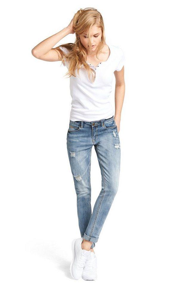 H.I.S Jeans »Monroe« in air blue destroy