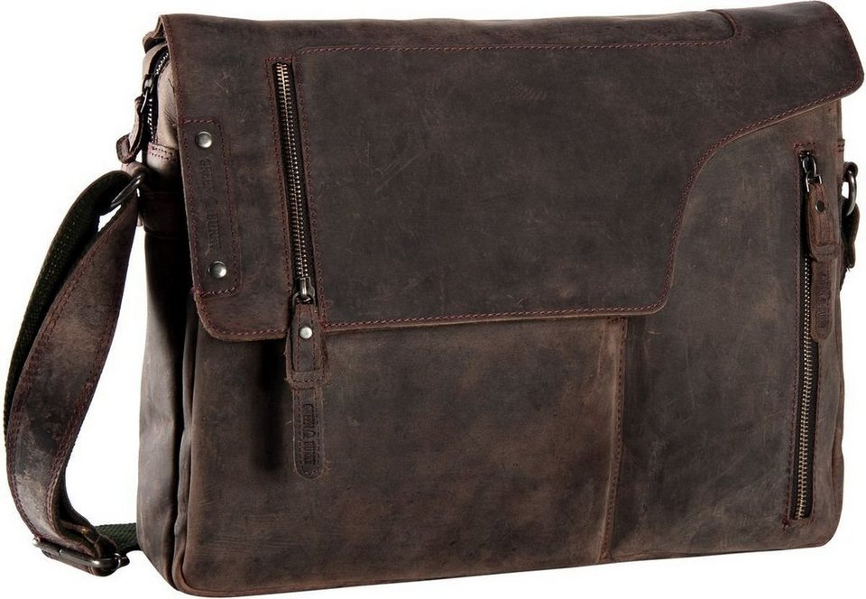 Greenburry Vintage Revival Revolver Bag 2 in Brown
