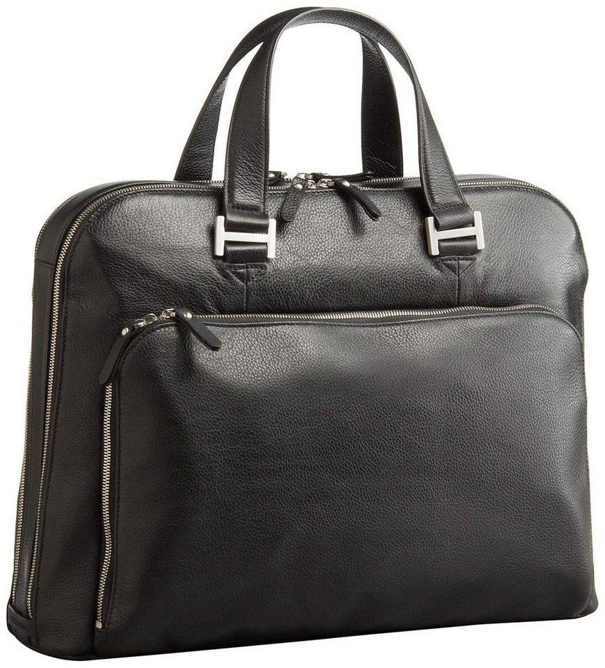 Leonhard Heyden Aktentasche »Montpellier 2512 Businesstasche« | Taschen > Business Taschen | Schwarz | Nylon - Leder - Metall | Leonhard Heyden