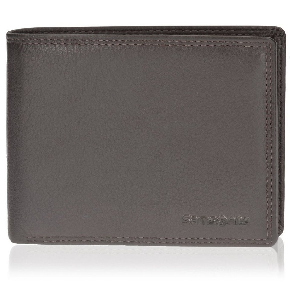 Samsonite Herren Geldbörse Querformat 78019 Leder 12,5 cm in brown