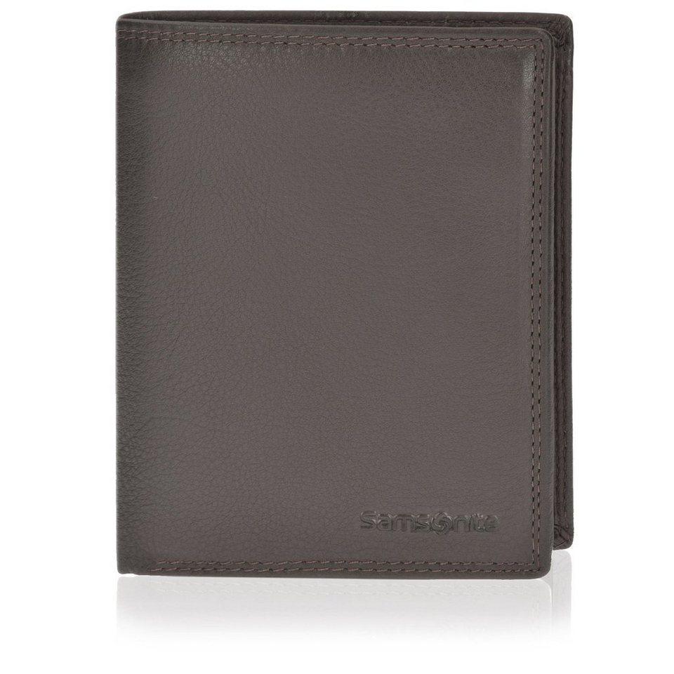 Samsonite Geldbörse Hochformat 78020 mit Klappfach und Reißverschlussfach in brown