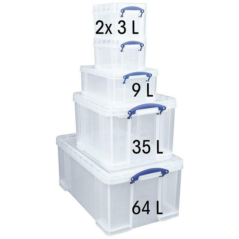 Really Useful Box 5er-Set Ablageboxen
