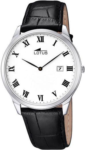 Lotus Multifunktionsuhr »UL10124/3 Lotus Herren Uhr Elegant L10124/3 Leder«, (Analoguhr), Herren Armbanduhr rund, groß (ca. 41mm), Lederarmband schwarz