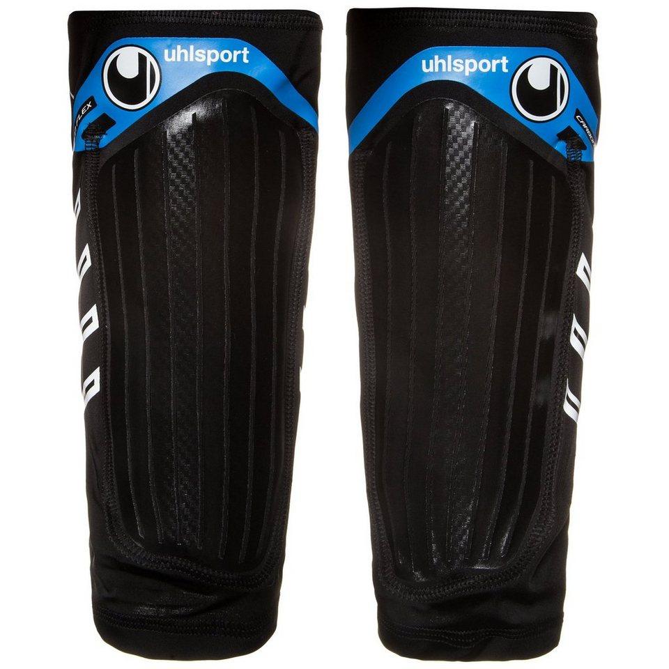 UHLSPORT Carbon Flex Schienbeinschoner in schwarz / blau