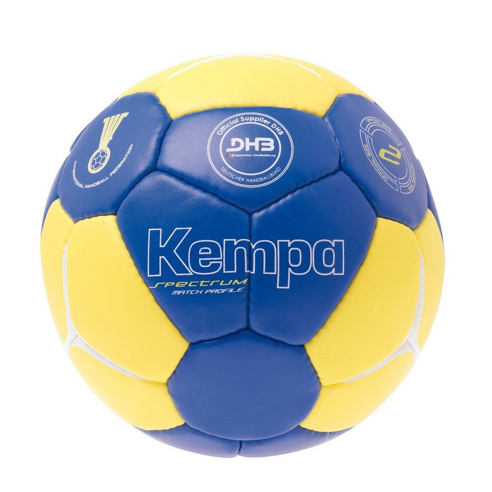 KEMPA Spectrum Match Profile Handball in royal/fluo gelb/weiß
