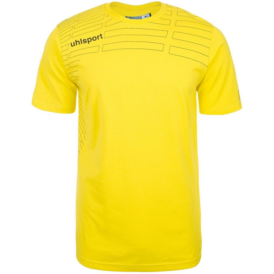 UHLSPORT Match Training T-Shirt Kinder in limonen gelb/schwarz