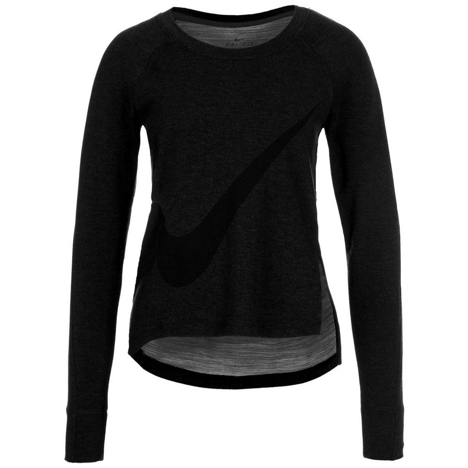 NIKE Sphere Dry Trainingssweat Damen in anthrazit / schwarz