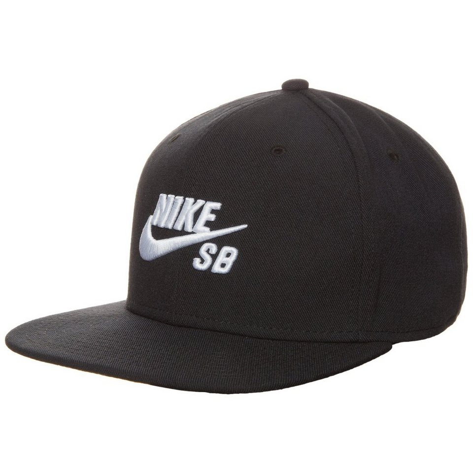 NIKE SB Icon Snapback Cap in schwarz / weiß