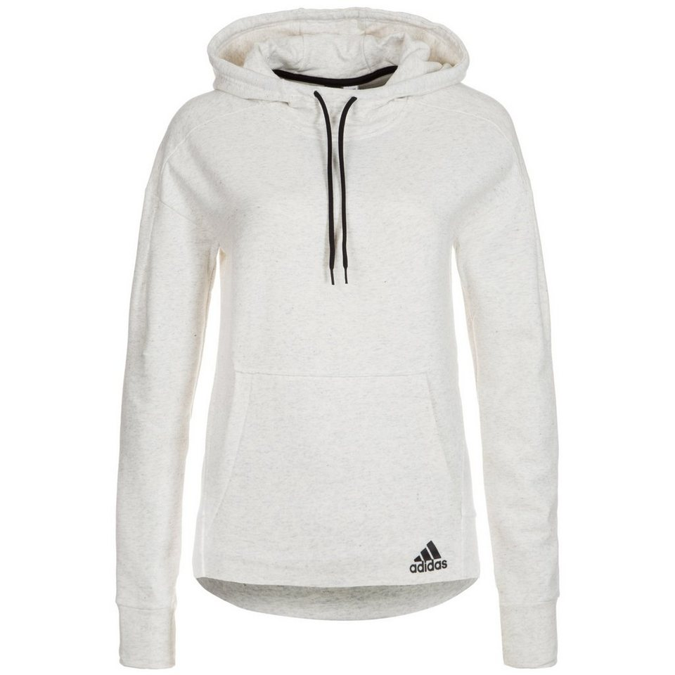 adidas Performance Fleece Trainingskapuzenpullover Damen in hellgrau
