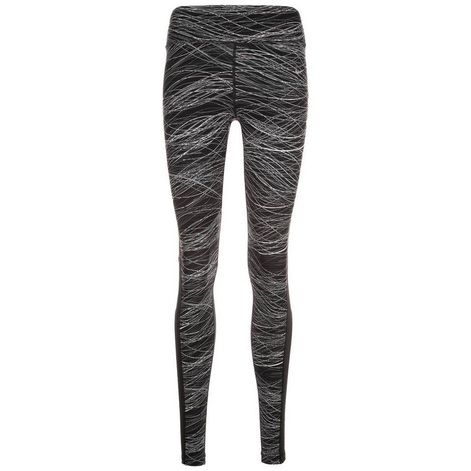 NIKE Power Epic Lux Lauftight Damen in schwarz / grau