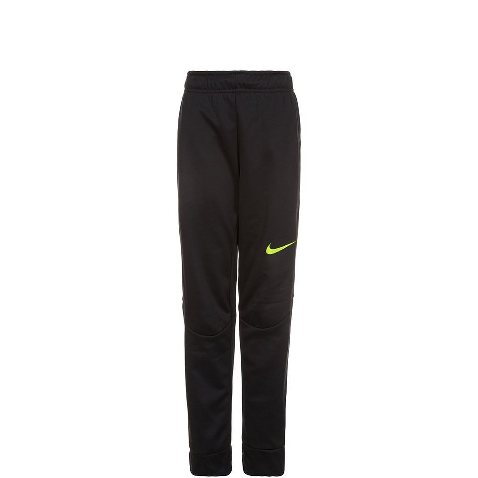 NIKE Therma Tapered Trainingshose Kinder in schwarz / neongelb