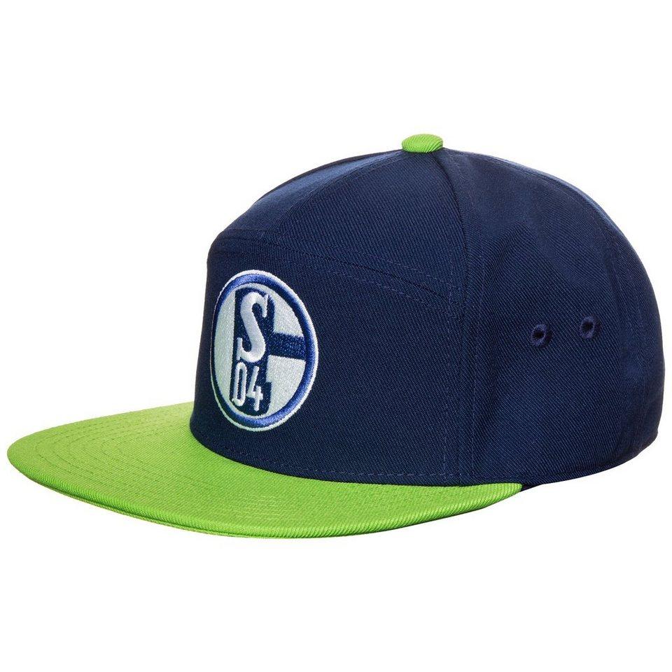 adidas Performance FC Schalke 04 Anthem Snapback Cap in dunkelblau / grün