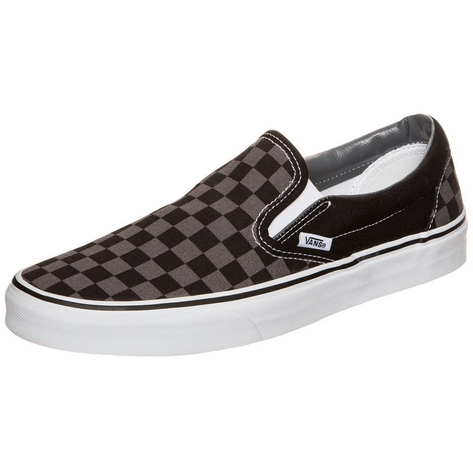 VANS Classic Slip-On Checkerboard Sneaker in schwarz / grau