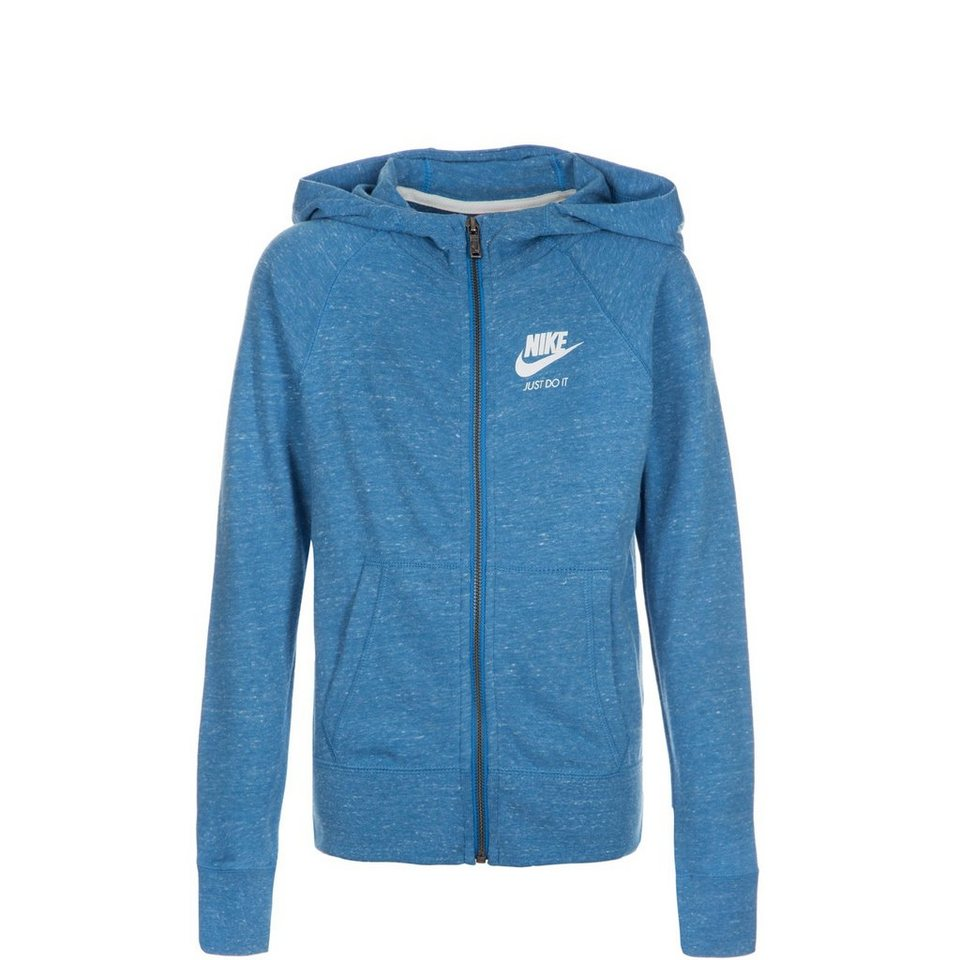 NIKE Gym Vintage Trainingskapuzenjacke Kinder in blau