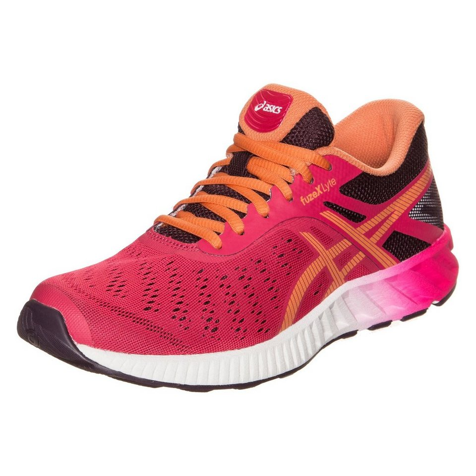 ASICS fuzeX Lyte Laufschuh Damen in pink / orange / weiß
