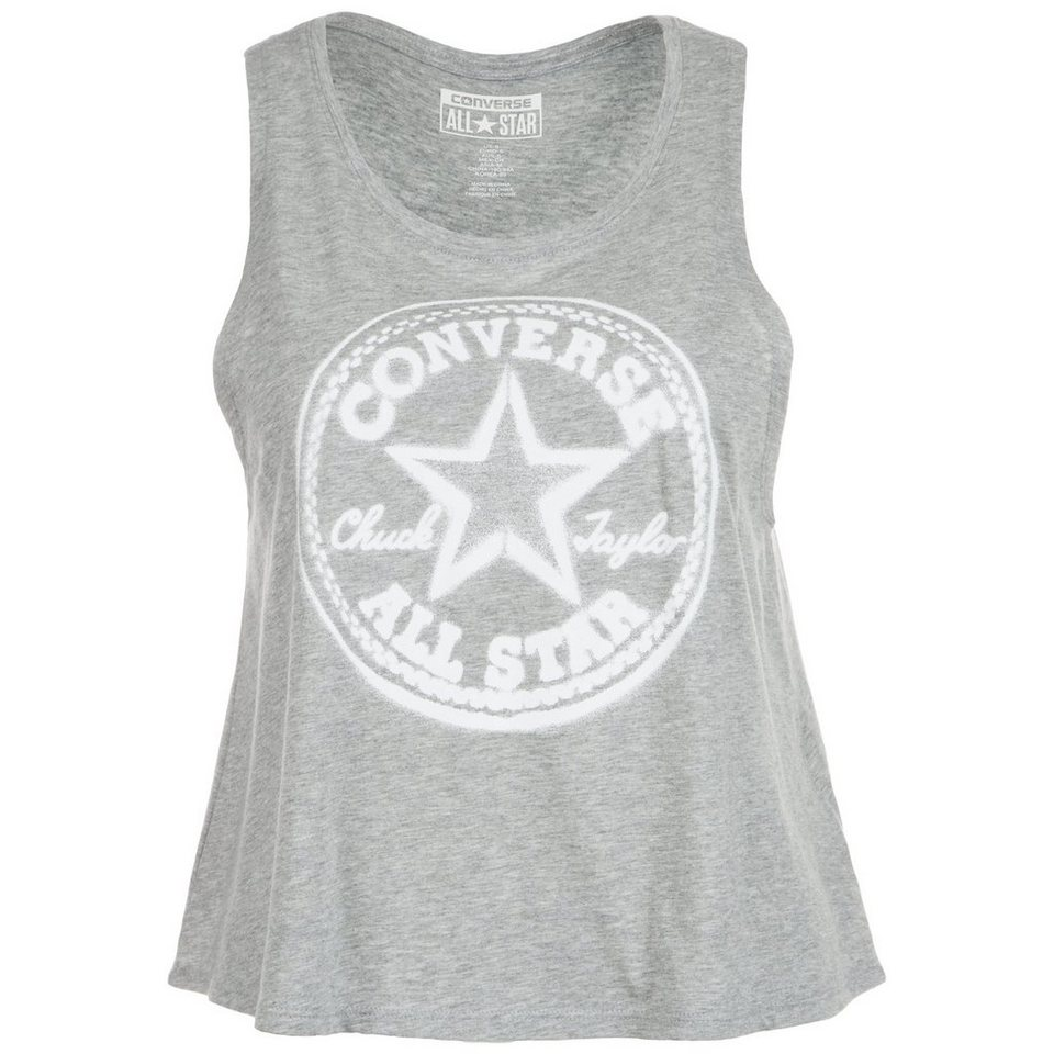 CONVERSE Core Plus CP Swing Crop Tanktop Damen in grau