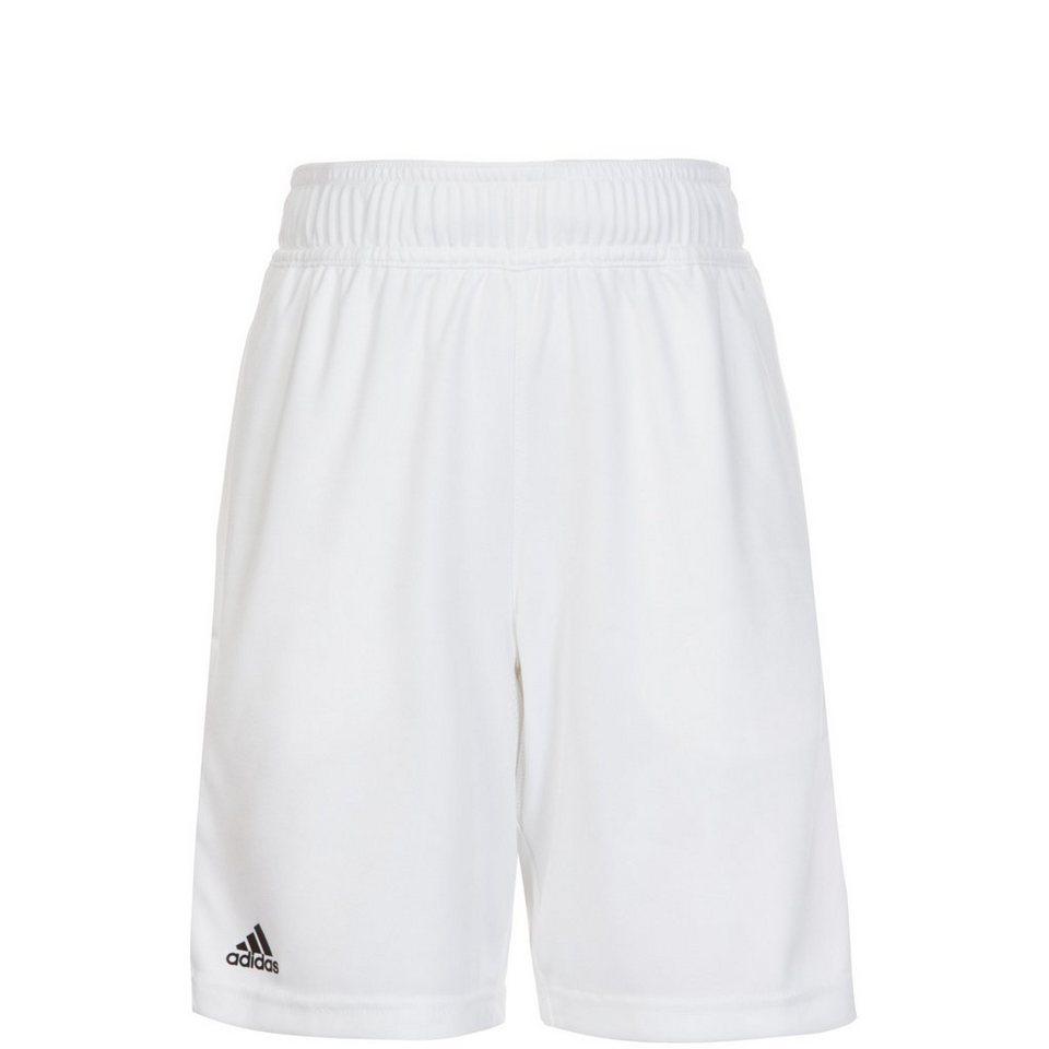 adidas Performance Barricade Tennisshort Kinder in weiß / schwarz