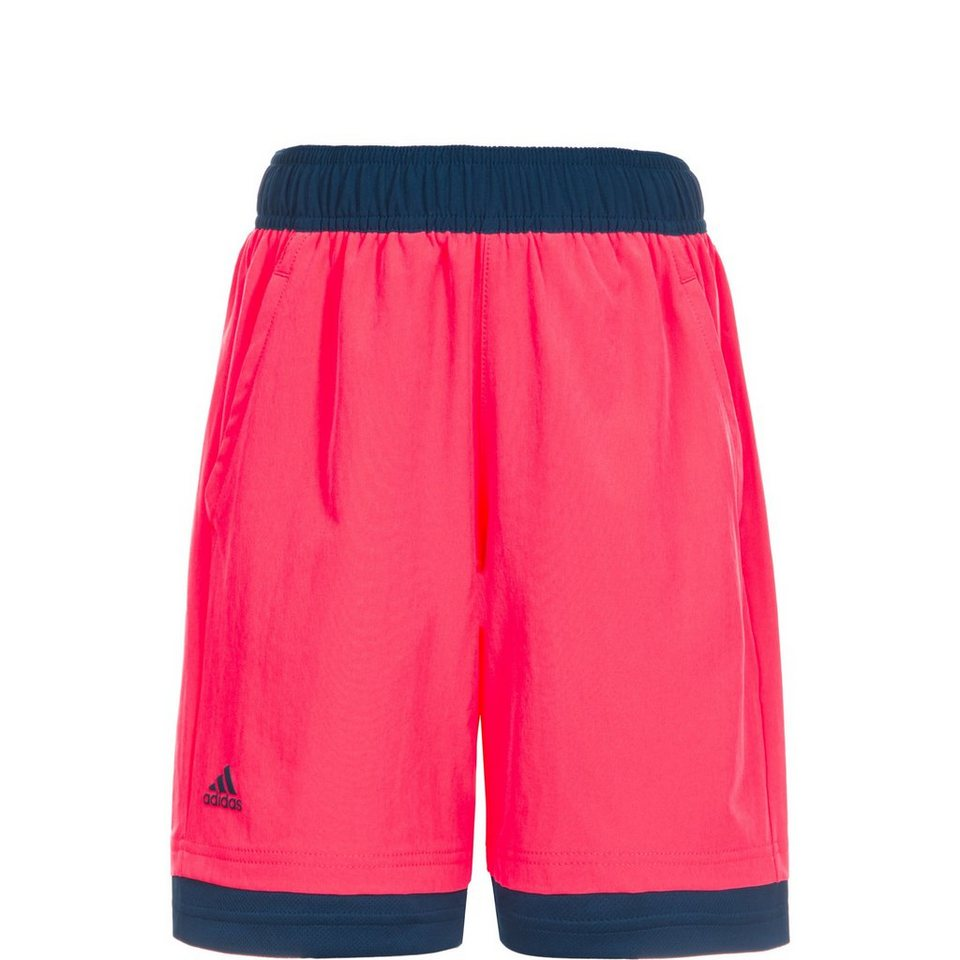 adidas Performance Pro Bermuda Tennisshort Kinder in neonrot / dunkelblau