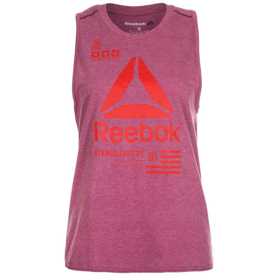 REEBOK One Series Muscle Trainingstank Damen in violett / rot