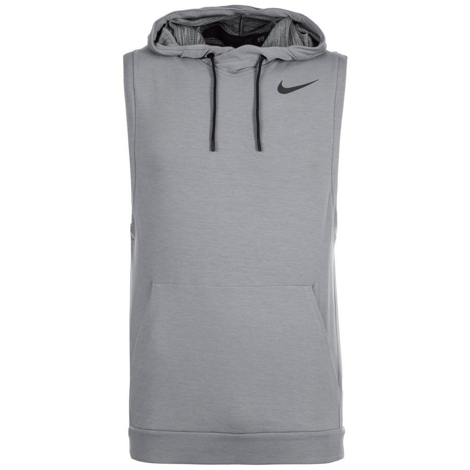 NIKE Touch Fleece Trainingskapuzenpullover Herren in grau / schwarz