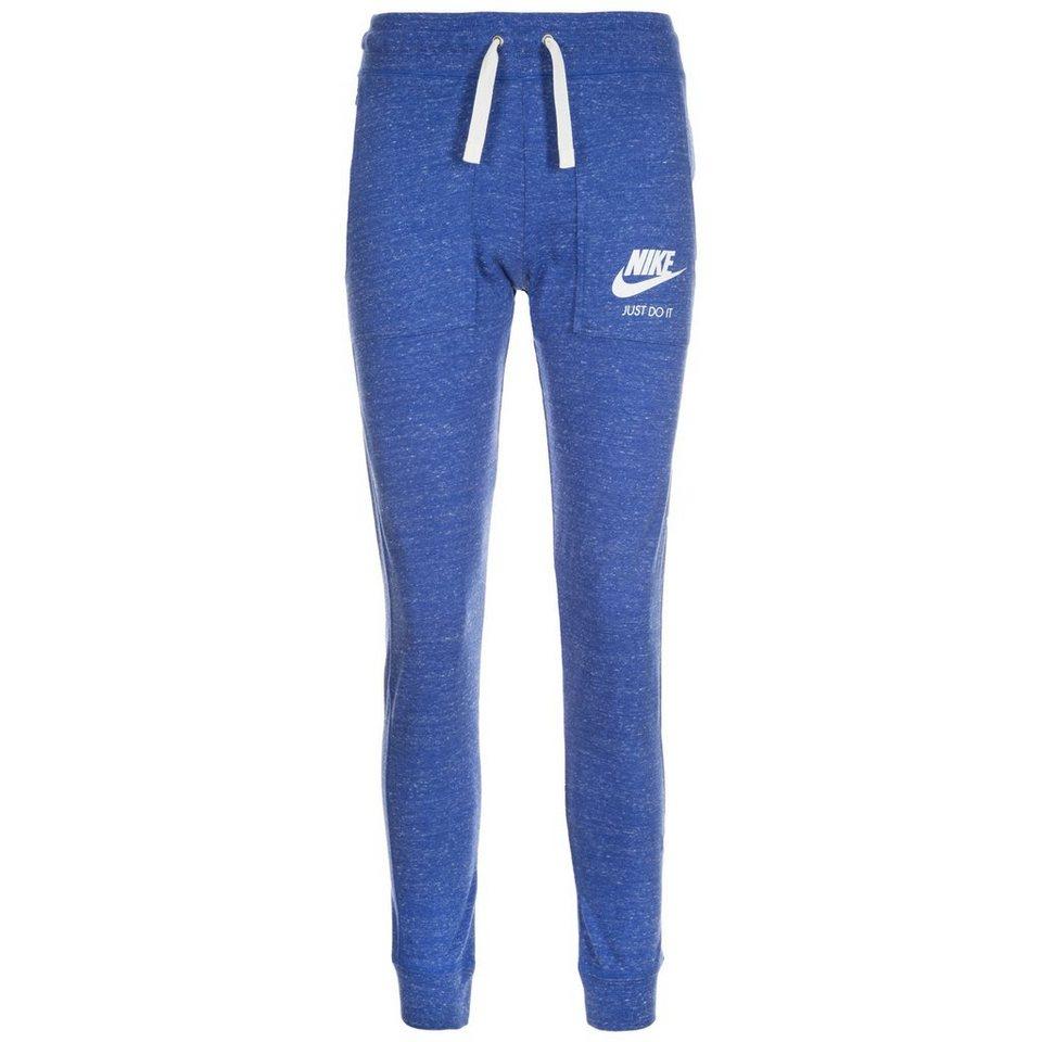 Nike Sportswear Gym Vintage Trainingshose Damen in blau / weiß