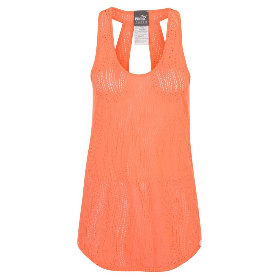PUMA Mesh It Up Trainingstank Damen in koral