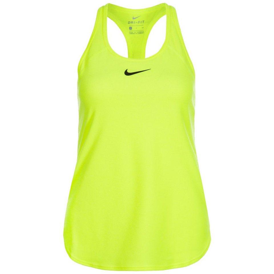 NIKE Dry Slam Tennistank Damen in neongelb